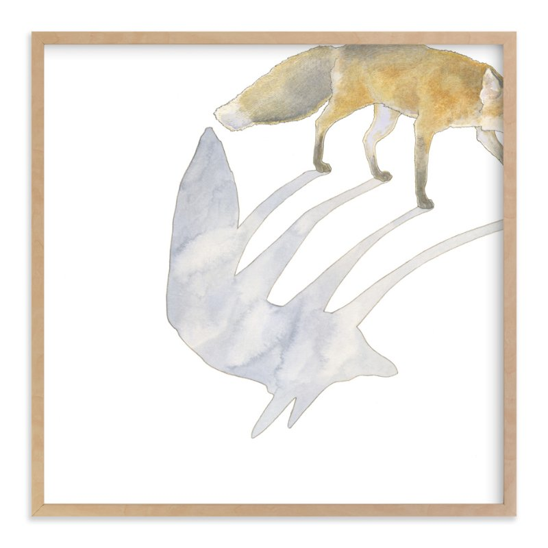 """""""Fox Shadow"""" - Limited Edition Art Print by Natalie Groves in beautiful frame options and a variety of sizes."""