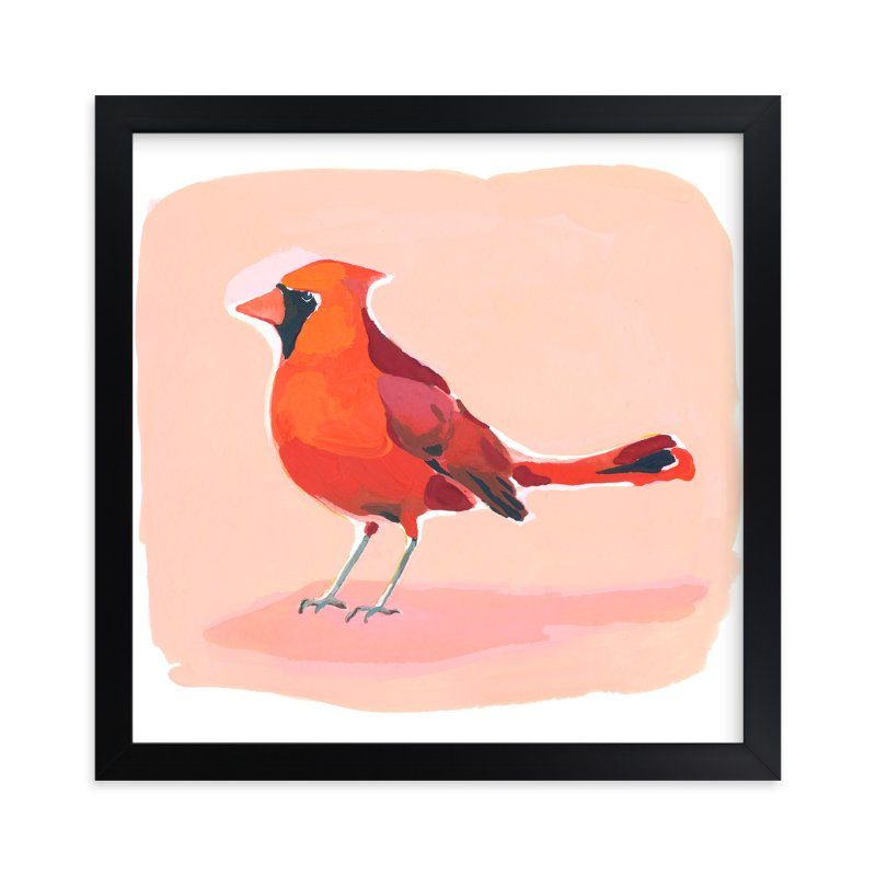 """Inquisitive Cardinal"" - Limited Edition Art Print by Betty Hatchett in beautiful frame options and a variety of sizes."