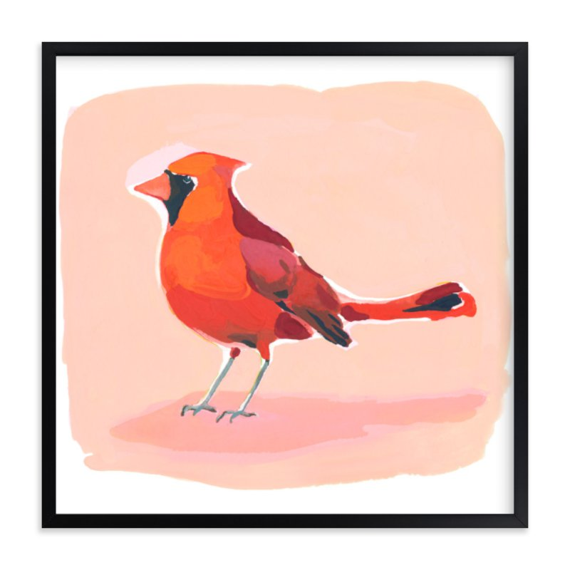 """""""Inquisitive Cardinal"""" - Limited Edition Art Print by Betty Hatchett in beautiful frame options and a variety of sizes."""