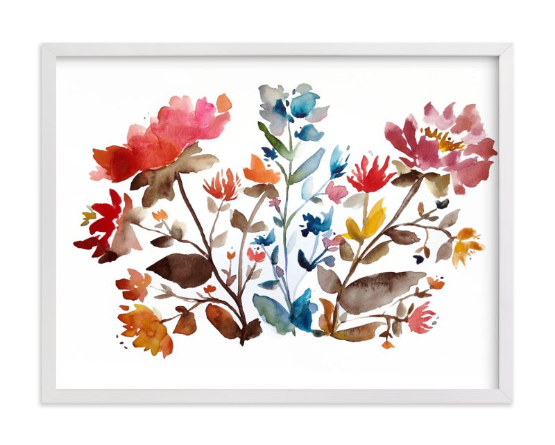 """island wildflowers no.1"" - Limited Edition Art Print by Kiana Mosley in beautiful frame options and a variety of sizes."