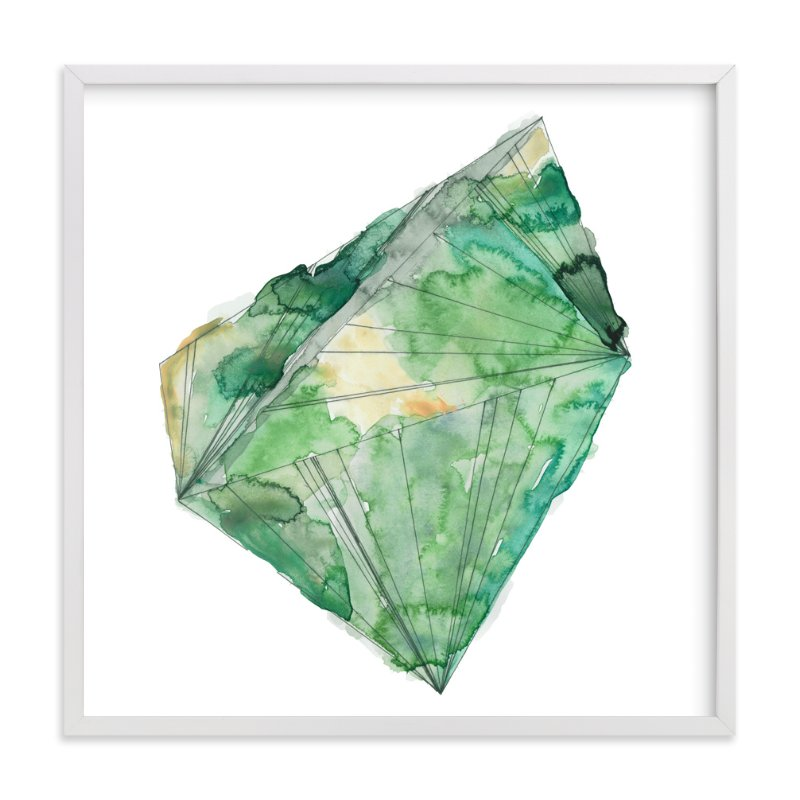 """""""emerald"""" - Limited Edition Art Print by Naomi Ernest in beautiful frame options and a variety of sizes."""