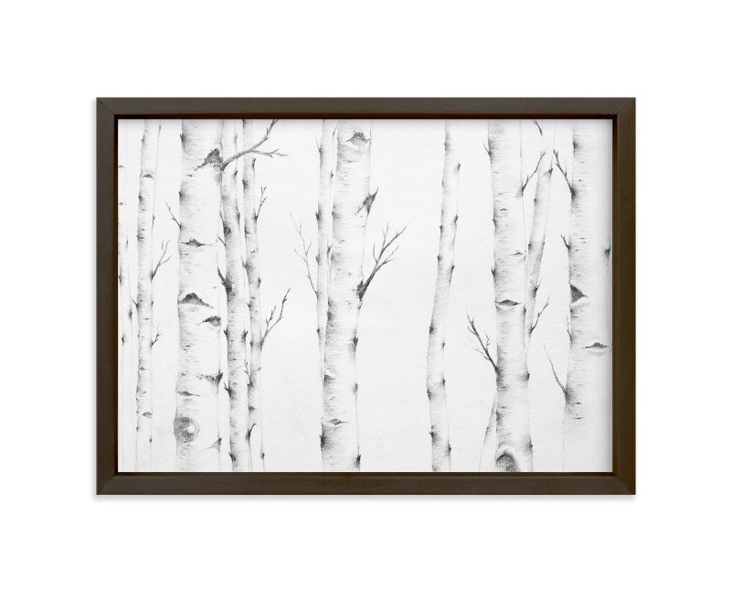 """Birch Story"" - Limited Edition Art Print by jinseikou in beautiful frame options and a variety of sizes."