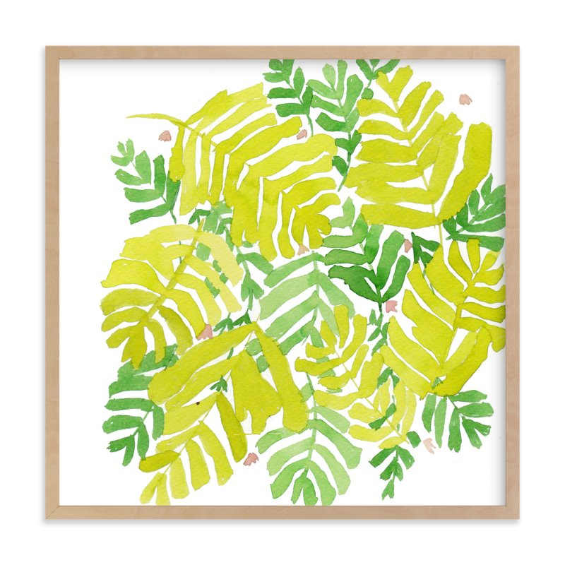 """""""fresh leaf"""" - Limited Edition Art Print by Tae Lee in beautiful frame options and a variety of sizes."""