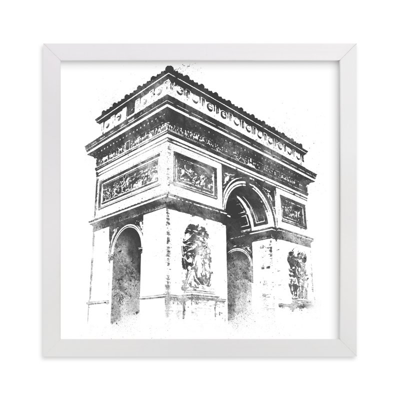 """""""Arc de Triomphe"""" - Limited Edition Art Print by Paul Berthelot in beautiful frame options and a variety of sizes."""