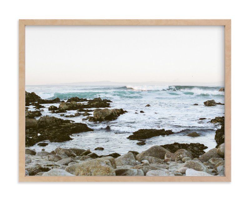 """Rocky Coast"" - Limited Edition Art Print by Janel Galvez in beautiful frame options and a variety of sizes."