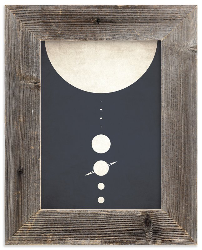 """Planetary Neighbors"" - Limited Edition Art Print by GeekInk Design in beautiful frame options and a variety of sizes."