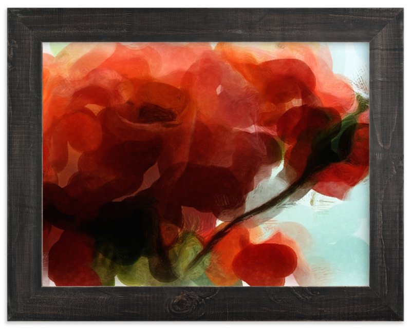 """Abstract Roses"" - Limited Edition Art Print by Morgan Michelle in beautiful frame options and a variety of sizes."