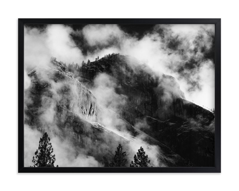 Clouds yosemite limited edition art print by elise akerson in beautiful frame