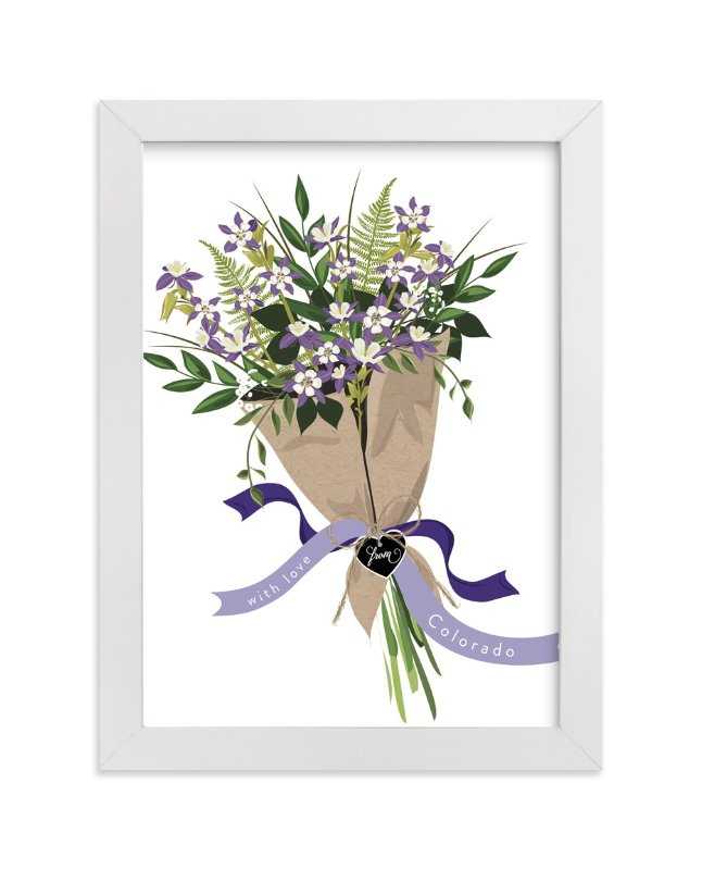 """Colorado Blue Columbine Bouquet"" - Limited Edition Art Print by Susan Moyal in beautiful frame options and a variety of sizes."