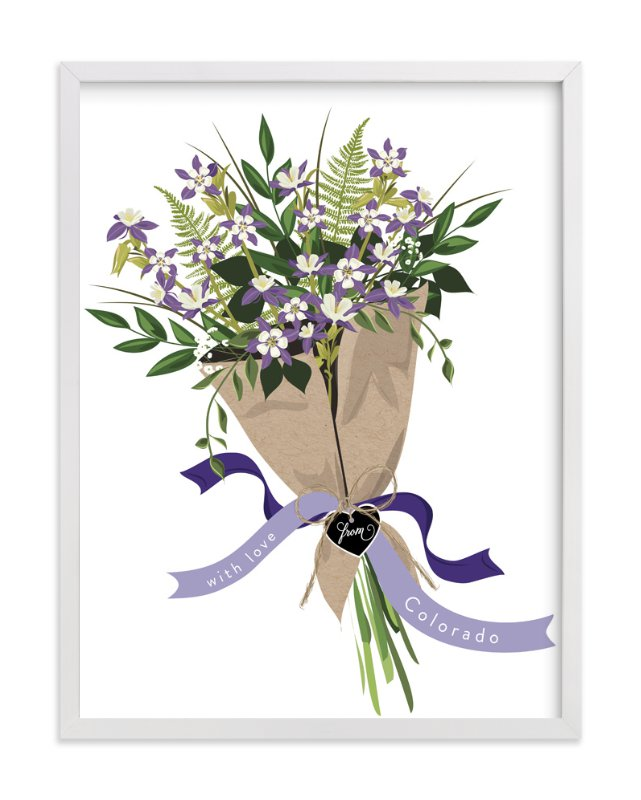 """""""Colorado Blue Columbine Bouquet"""" - Limited Edition Art Print by Susan Moyal in beautiful frame options and a variety of sizes."""