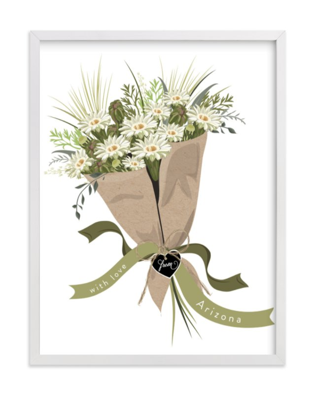 """""""Arizona Saguaro Bouquet"""" - Limited Edition Art Print by Susan Moyal in beautiful frame options and a variety of sizes."""