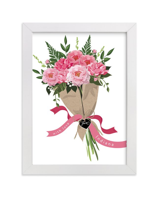 """""""Indiana Peony Bouquet"""" - Art Print by Susan Moyal in beautiful frame options and a variety of sizes."""