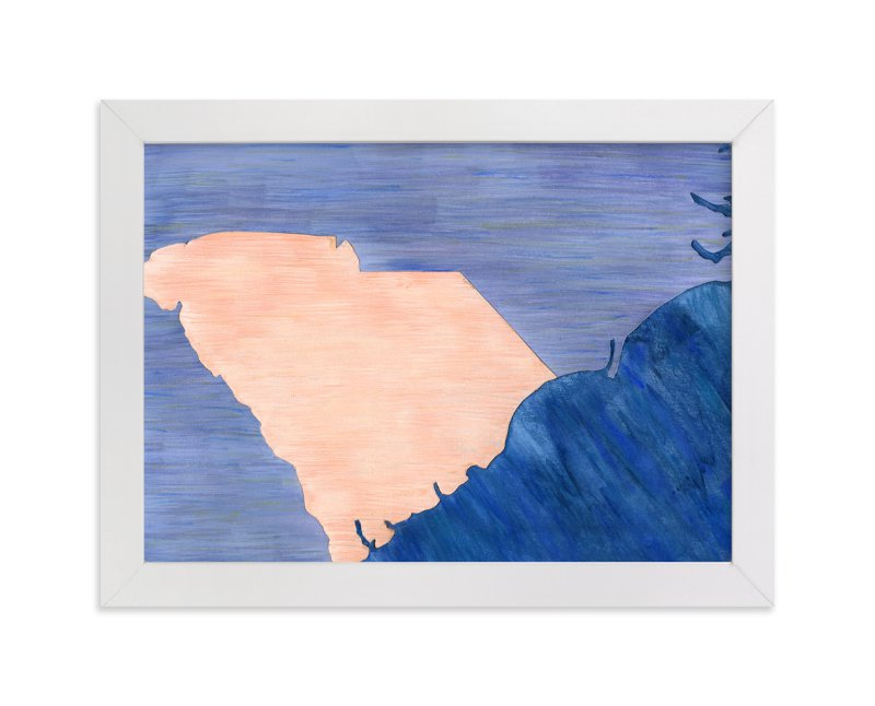 """""""South Carolina in Paint"""" - Limited Edition Art Print by Denise Wong in beautiful frame options and a variety of sizes."""