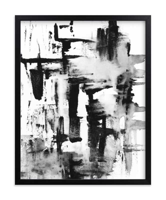 """Pushed"" - Limited Edition Art Print by Mande in beautiful frame options and a variety of sizes."