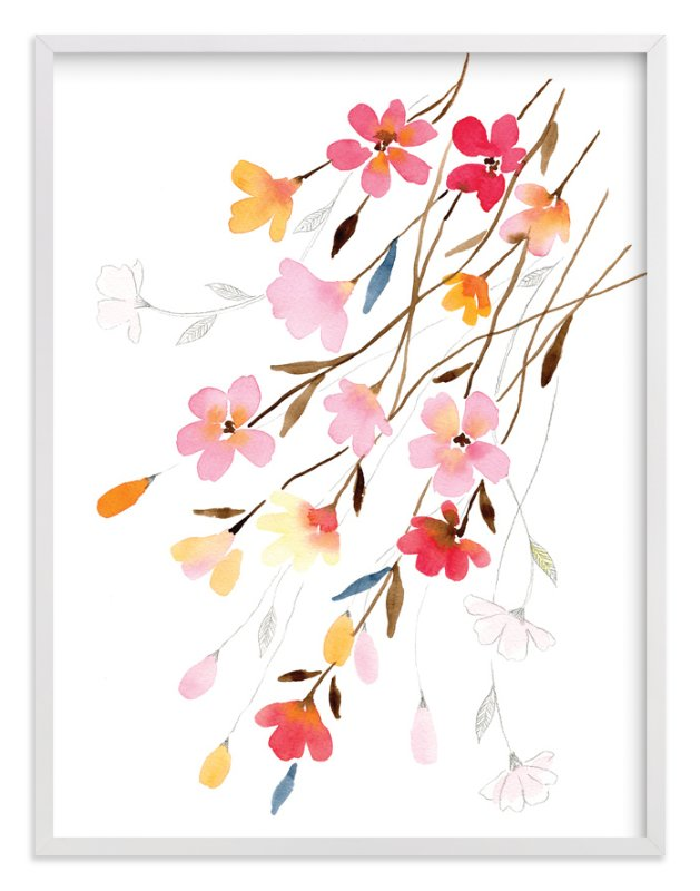 """Blossoming"" - Limited Edition Art Print by Stephanie Ryan in beautiful frame options and a variety of sizes."