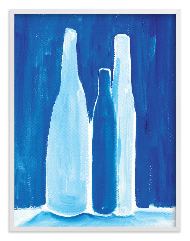 """""""3 bottles"""" - Limited Edition Art Print by Robin Ott in beautiful frame options and a variety of sizes."""