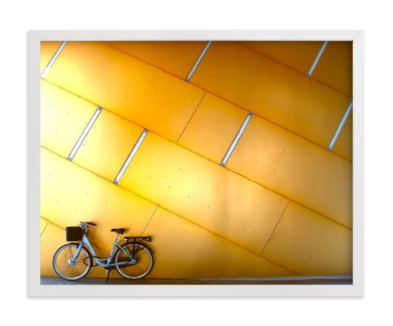 """""""Copenhagen Yellow"""" - Limited Edition Art Print by Sadye Sagov in beautiful frame options and a variety of sizes."""