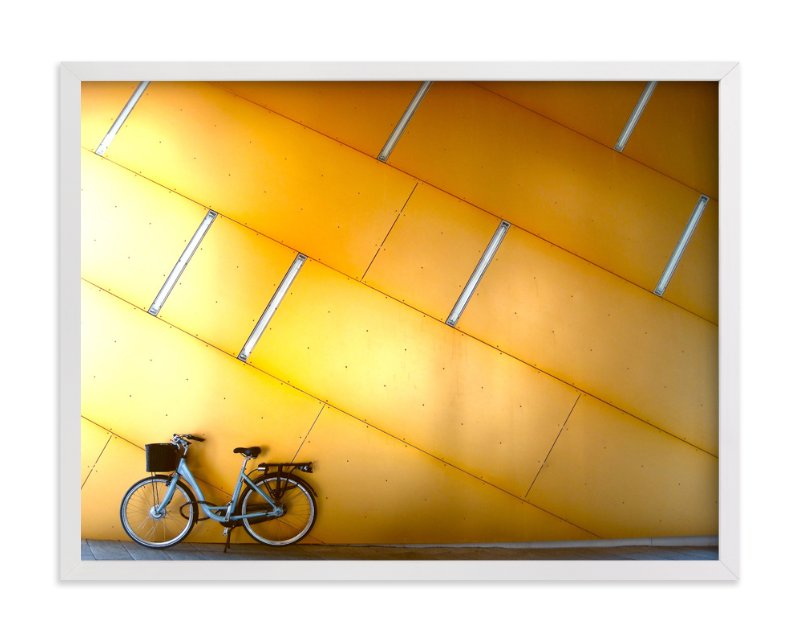 """Copenhagen Yellow"" - Limited Edition Art Print by Sadye Sagov in beautiful frame options and a variety of sizes."