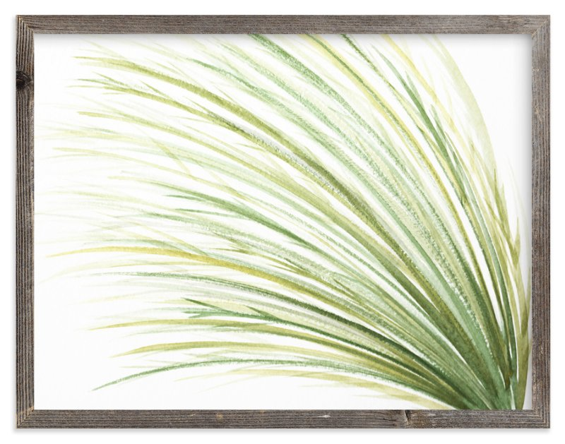 """Tall Grass Watercolor"" - Limited Edition Art Print by Loree Mayer in beautiful frame options and a variety of sizes."
