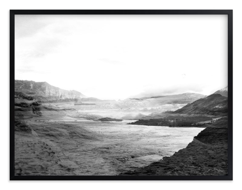 """Stormy Bay"" - Limited Edition Art Print by Bethan in beautiful frame options and a variety of sizes."