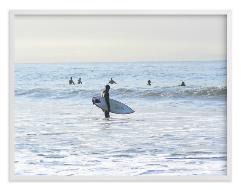 """""""Early morning surfer, Venice Beach"""" - Art Print by Annie Seaton in beautiful frame options and a variety of sizes."""