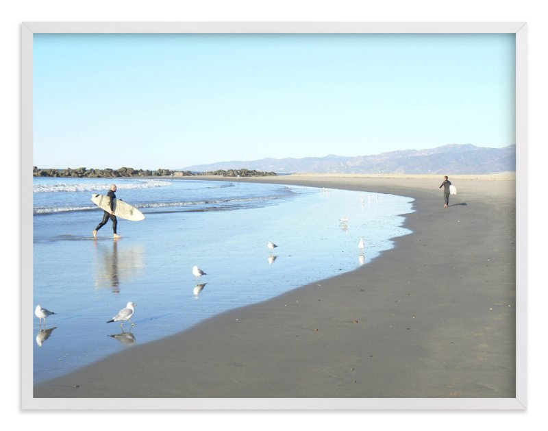 """""""Venice Beach Morning"""" - Limited Edition Art Print by Annie Seaton in beautiful frame options and a variety of sizes."""