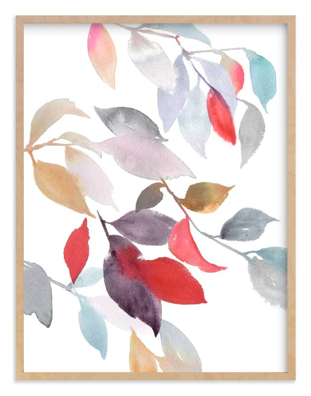 """Foliage"" - Art Print by Julie Song Ink in beautiful frame options and a variety of sizes."