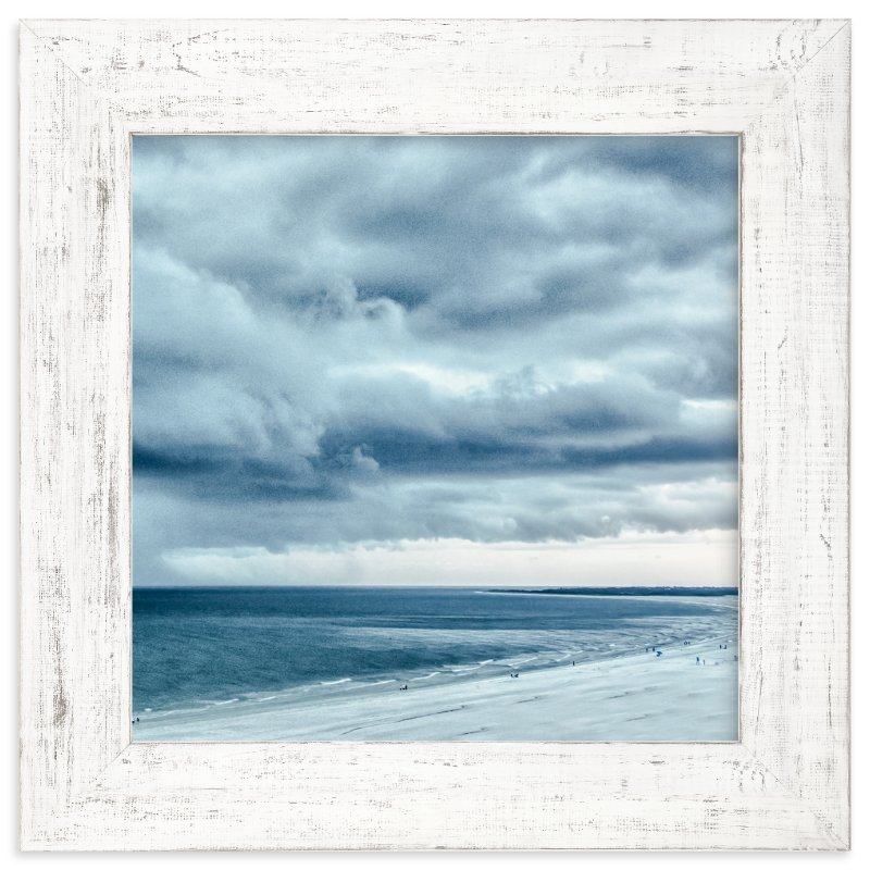 """""""Blue Beach Storm"""" - Limited Edition Art Print by Mary Ann Glynn-Tusa in beautiful frame options and a variety of sizes."""