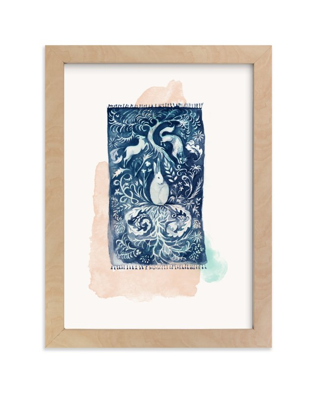 """Dream Rug"" - Limited Edition Art Print by Zoe Pappenheimer in beautiful frame options and a variety of sizes."