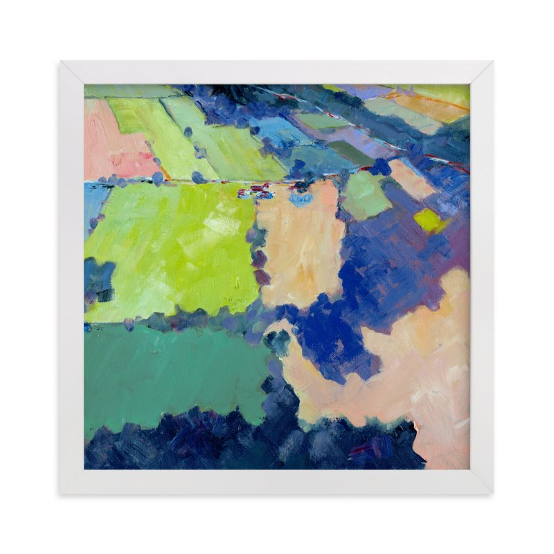 """""""Above the Farm 1"""" - Limited Edition Art Print by Stephanie Goos Johnson in beautiful frame options and a variety of sizes."""
