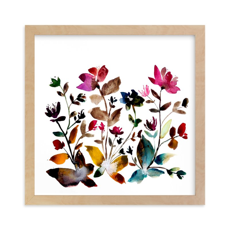 """""""island wildflowers no.6"""" - Limited Edition Art Print by Kiana Mosley in beautiful frame options and a variety of sizes."""