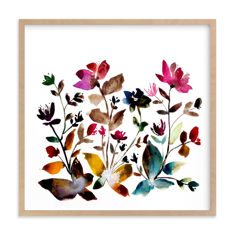 """island wildflowers no.6"" - Limited Edition Art Print by Kiana Mosley in beautiful frame options and a variety of sizes."