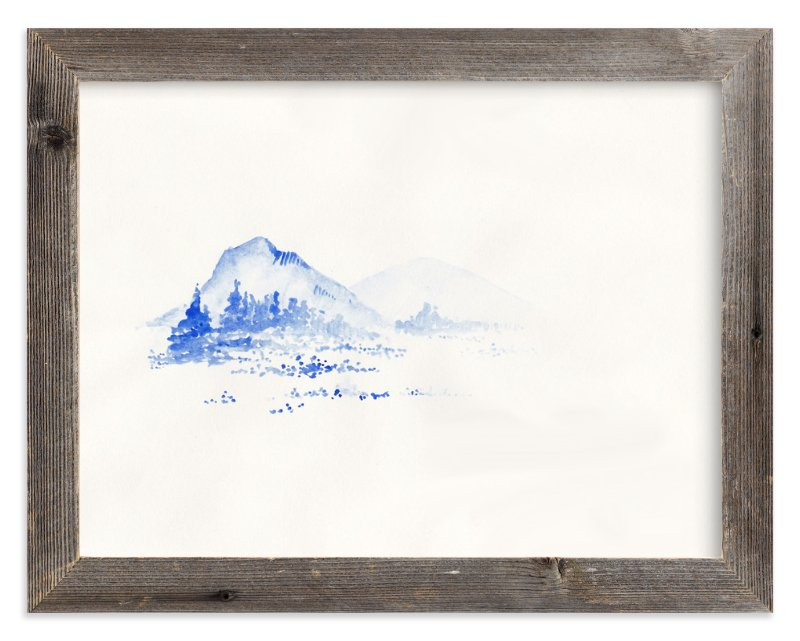"""Cascade Blues"" - Limited Edition Art Print by Marguerite Andrews in beautiful frame options and a variety of sizes."