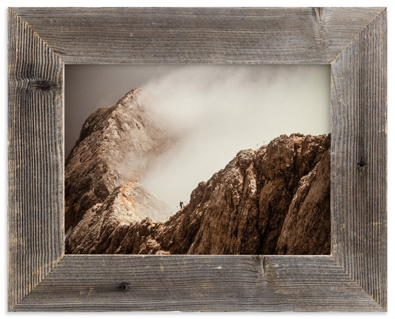 """Man and a Mountain"" - Limited Edition Art Print by Uros Zagozen in beautiful frame options and a variety of sizes."