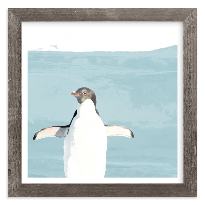 """Naked Penguin"" - Limited Edition Art Print by Michelle Poe in beautiful frame options and a variety of sizes."