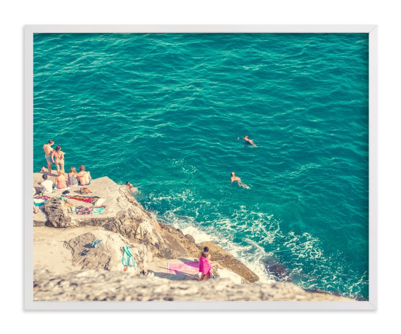 """""""Seaside"""" - Limited Edition Art Print by Alexandra Nazari in beautiful frame options and a variety of sizes."""