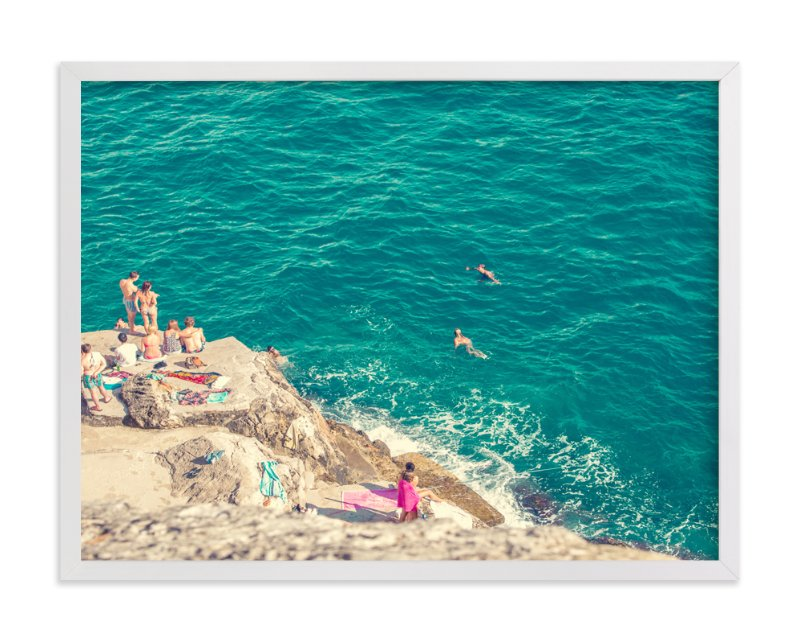 """Seaside"" - Limited Edition Art Print by Alexandra Nazari in beautiful frame options and a variety of sizes."
