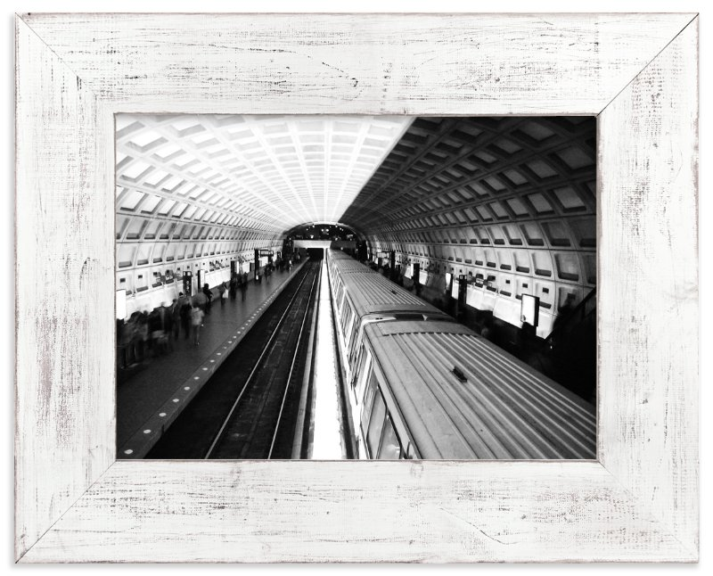 """DC subway fast track"" - Limited Edition Art Print by van tsao in beautiful frame options and a variety of sizes."
