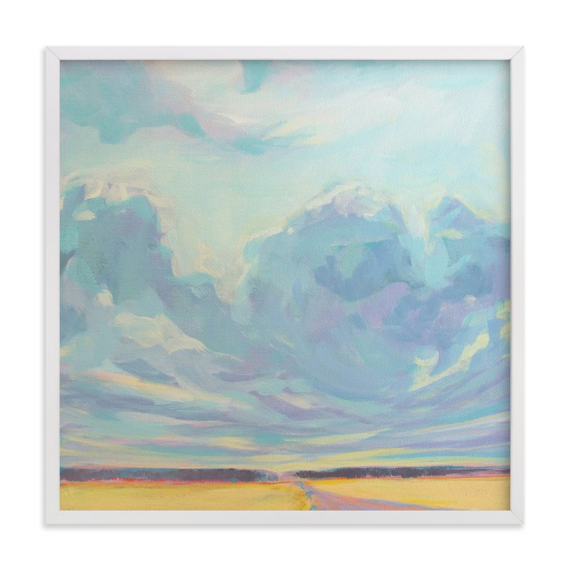 """""""Big Sky Country"""" - Limited Edition Art Print by Vicki Rawlins in beautiful frame options and a variety of sizes."""