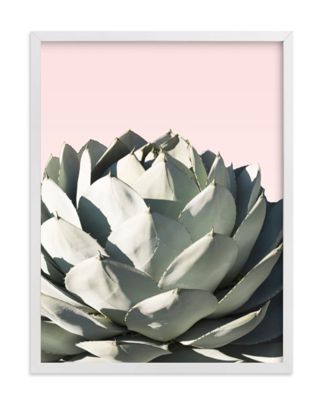 """""""Pink Agave"""" - Limited Edition Art Print by Wilder California in beautiful frame options and a variety of sizes."""