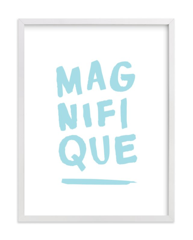 """""""Magnifique"""" - Art Print by Marabou Design in beautiful frame options and a variety of sizes."""