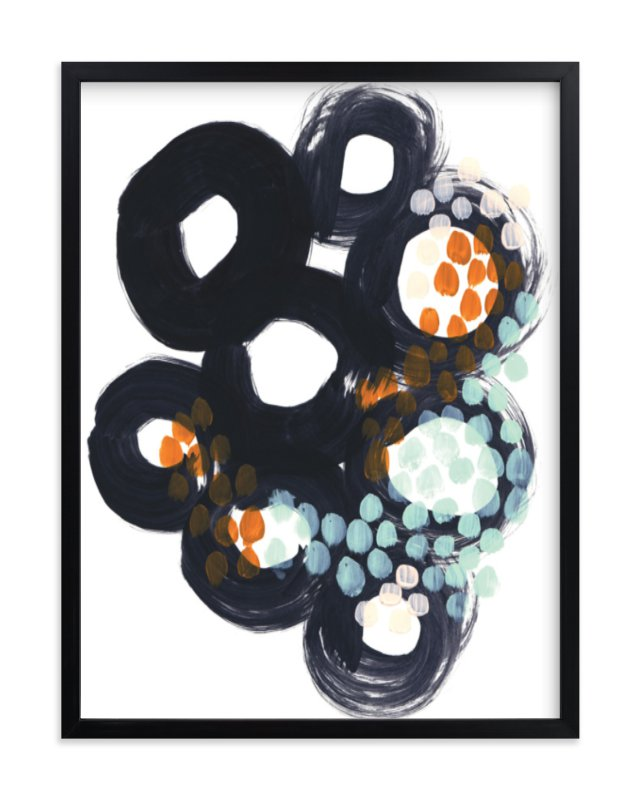 """""""Circles and Dots"""" - Limited Edition Art Print by Alethea and Ruth in beautiful frame options and a variety of sizes."""