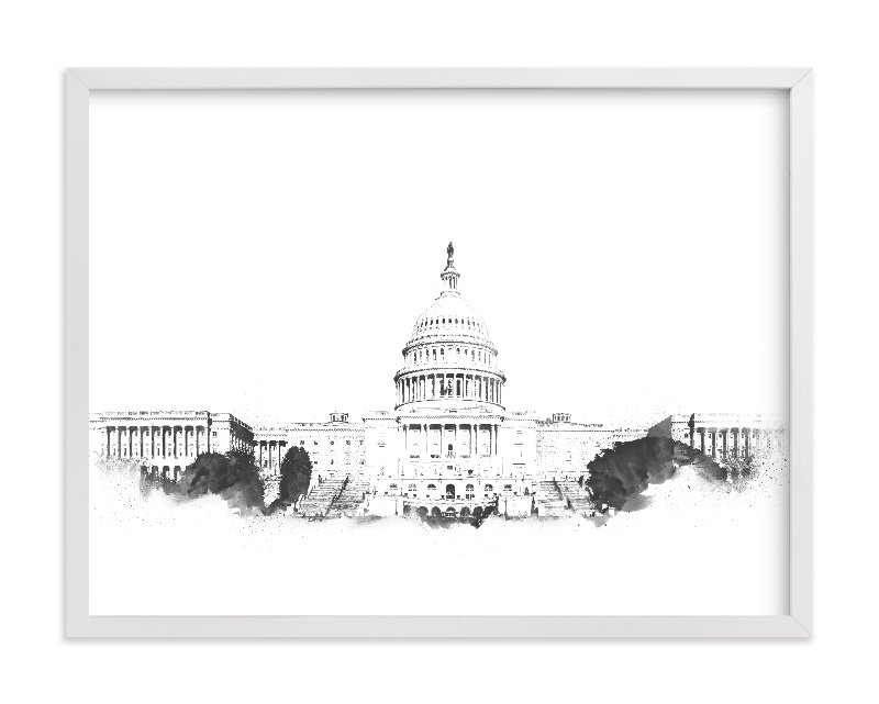 """Capitol Building"" - Limited Edition Art Print by Paul Berthelot in beautiful frame options and a variety of sizes."