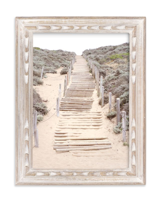 """""""Sandy San Franciscan Steps"""" - Limited Edition Art Print by Sharon Rowan in beautiful frame options and a variety of sizes."""