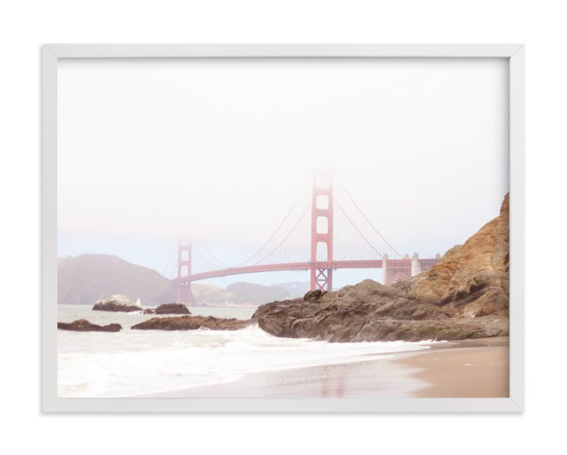 """""""The Golden Gate in Fog"""" - Limited Edition Art Print by Sharon Rowan in beautiful frame options and a variety of sizes."""