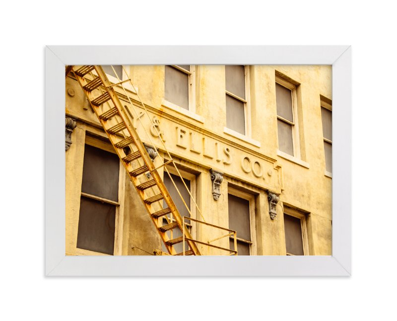 """Yellow Building"" - Limited Edition Art Print by Kamala Nahas in beautiful frame options and a variety of sizes."