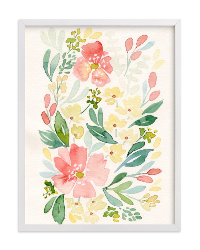 """""""Coral Peonies"""" - Limited Edition Art Print by Natalie Malan in beautiful frame options and a variety of sizes."""