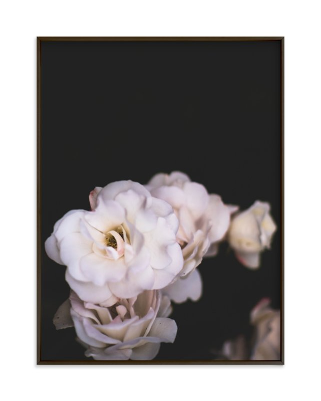 """""""Midnight Bloom"""" - Limited Edition Art Print by Kamala Nahas in beautiful frame options and a variety of sizes."""