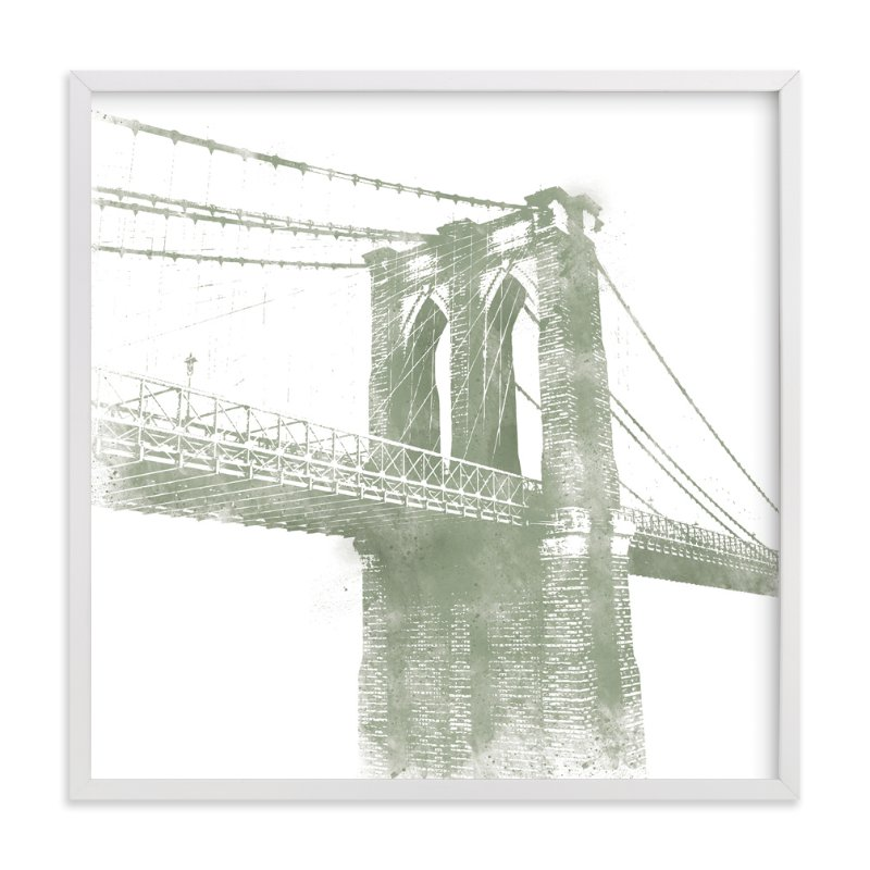 """""""Brooklyn Bridge"""" - Limited Edition Art Print by Paul Berthelot in beautiful frame options and a variety of sizes."""
