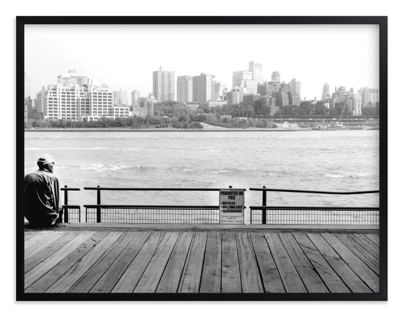 """""""NYC Viewpoint"""" - Limited Edition Art Print by Debra Pruskowski in beautiful frame options and a variety of sizes."""